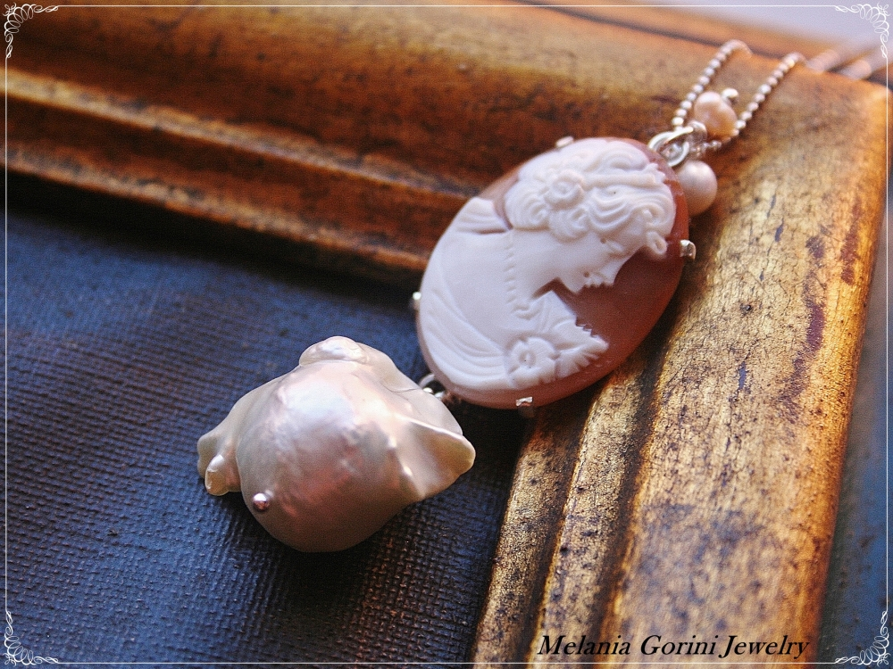 Perle barocche e cammei - Baroque pearls and cameos (4/6)