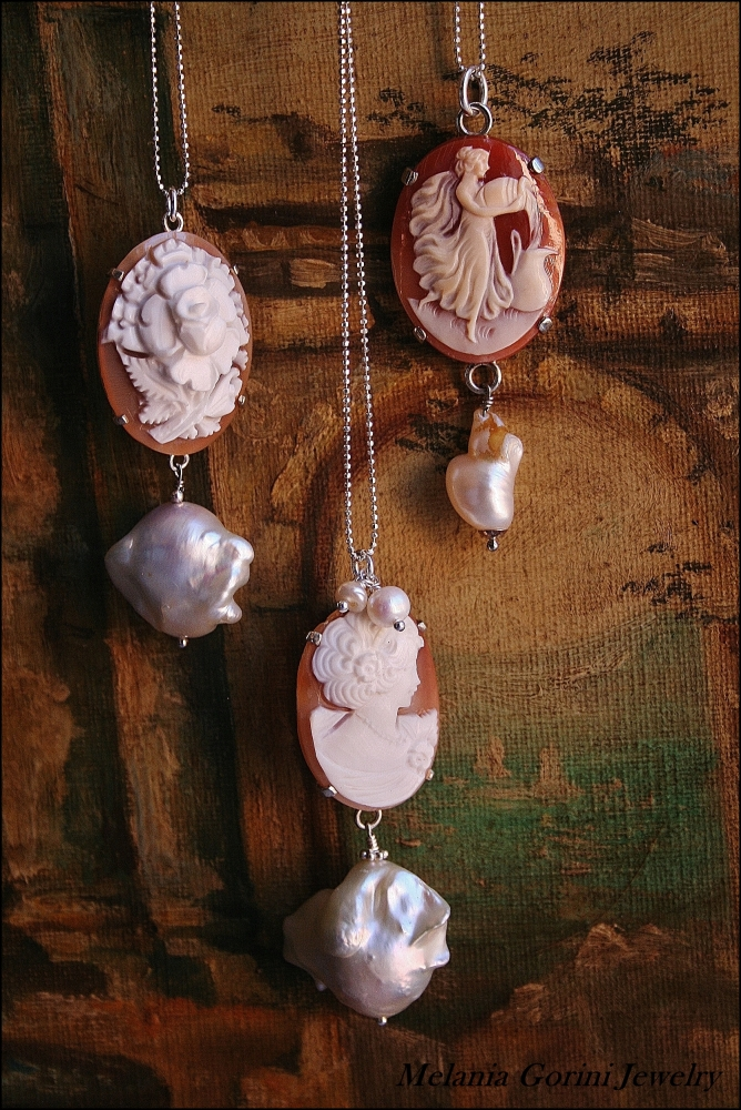 Perle barocche e cammei - Baroque pearls and cameos (5/6)