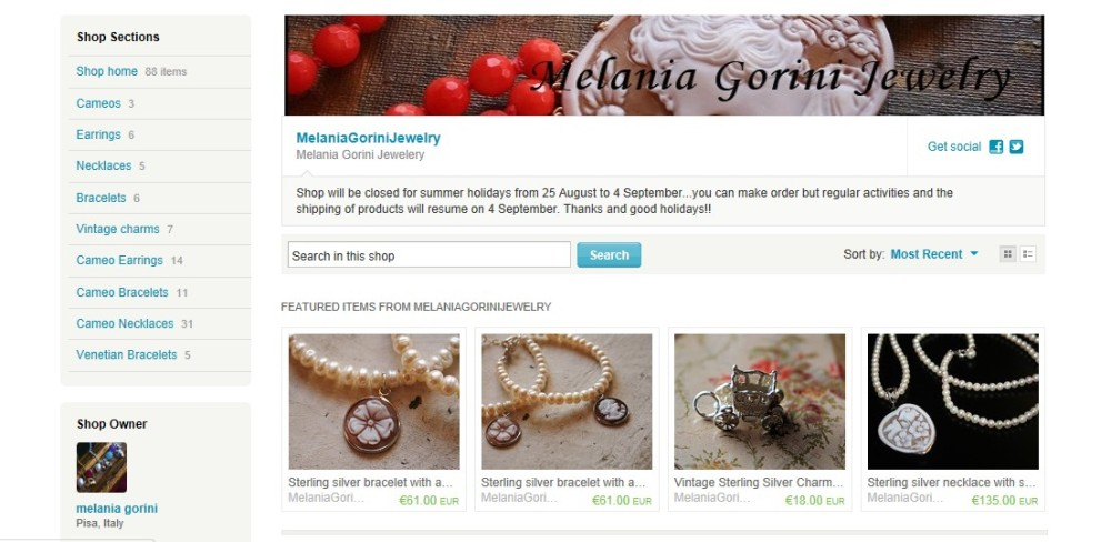 Shop On-line Etsy.com