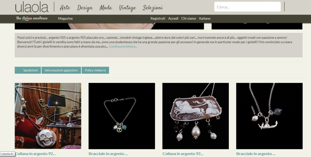 Shop on-line Ulaola.it