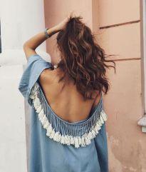 Vestito con nappe